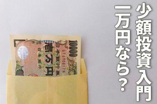 少額投資入門:1万円なら何に投資すべき?分散投資は不要