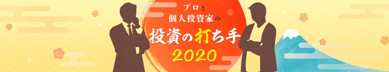 プロと個人投資家の投資の打ち手2020