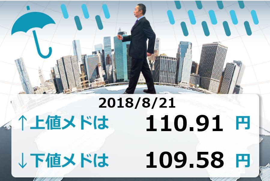 次はドル/円が主役か?トランプ大統領が利上げに不満を表明して6月以来の109円台まで円高すすむ