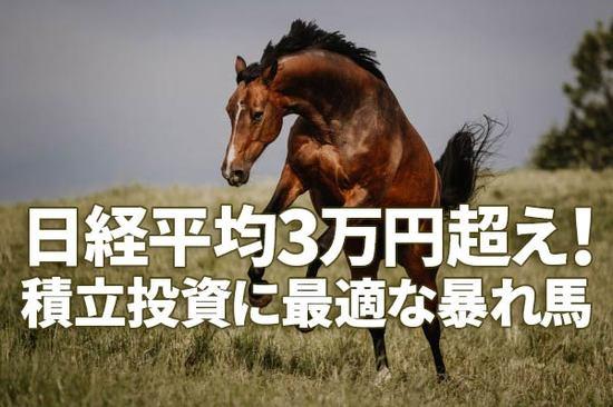 3万円超えの日経平均は「積立投資」に最適な暴れ馬。NYダウより上げも下げも大