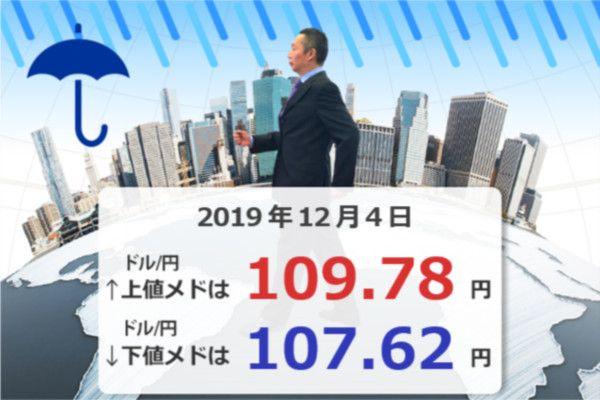 急落!ドル/円108円台前半。米中貿易交渉は「1年間延期」?マーケットは楽観的すぎたか
