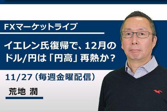 [動画で解説]イエレン氏復帰で、12月のドル/円は「円高」再燃か?